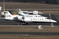 Air Independence Learjet 60 D-CIII aircraft, parked at Germany Hamburg Fuhlsbuettel International Airport. 09/04/2013.