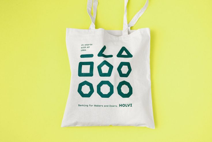 Holvi by Werklig, Finland. #branding #banking #totebag