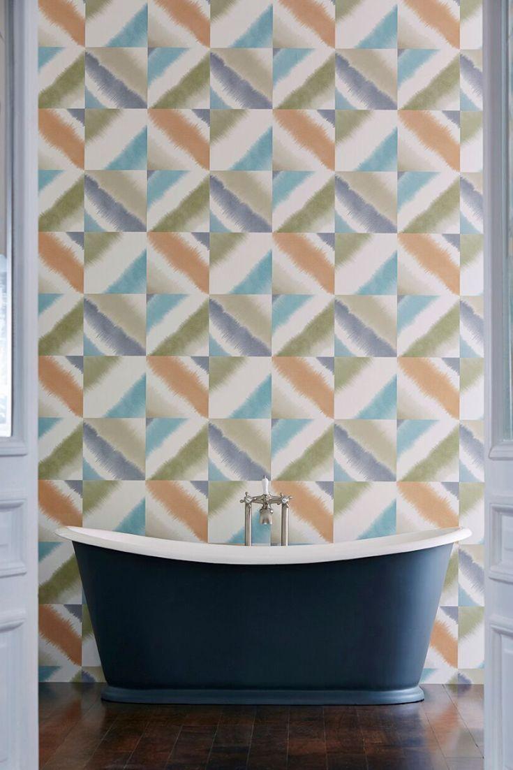 Create Photo Gallery For Website Harlequin us Quadro wallpaper design looks stunning in this bathroom