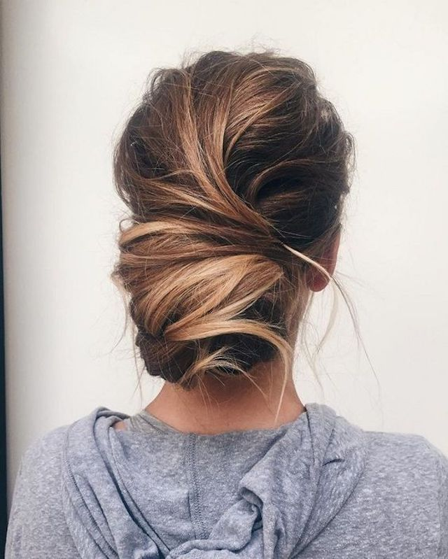 Textured low updo - 2018 wedding hair trends