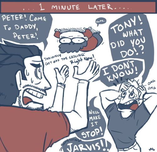 Superfamily Avengers | In which baby!Peter is afraid of flying and the dads find out about ...