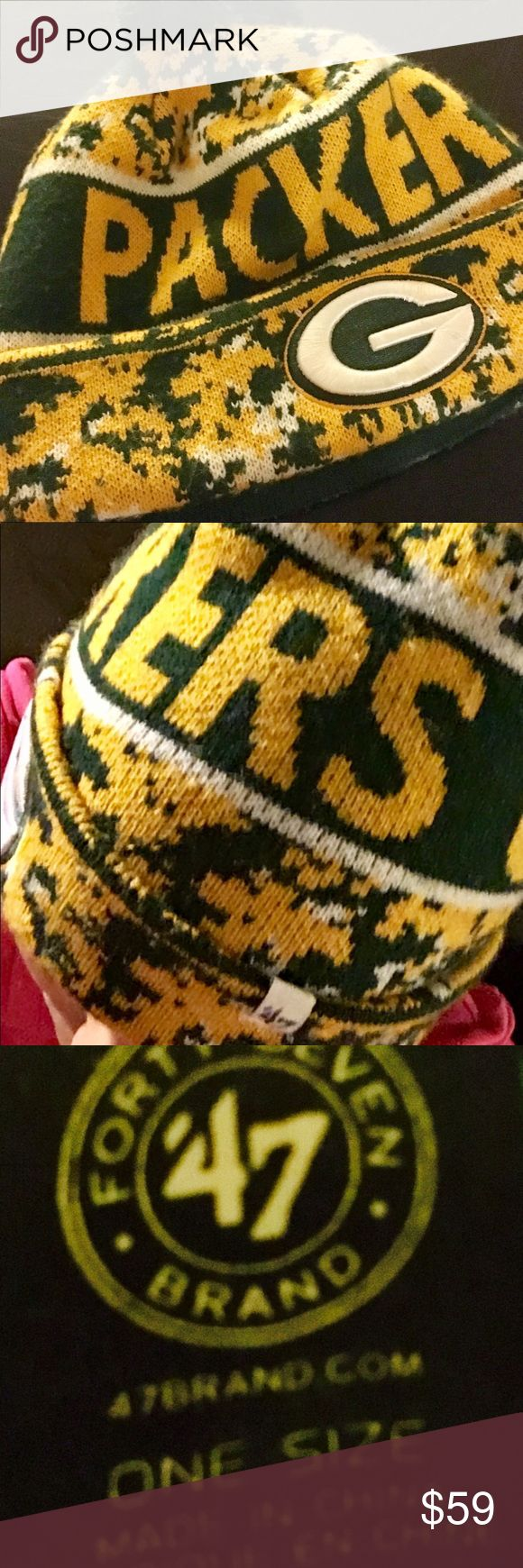 NFL GREEN BAY PACKERS FANS GREEN BAY PACKERS AUTHENTIC HAT Accessories Hats
