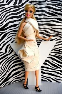 MiniatureCloting: Skirt for Barbie-Vortex skirt-3D skirt for Barbie