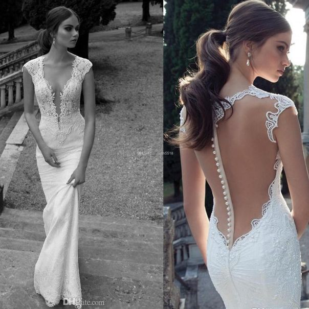 Bruidsjurk trouwjurk lage rug open rug, wedding dress low back, romantic wedding dress. Berta Bridal, 14-20.
