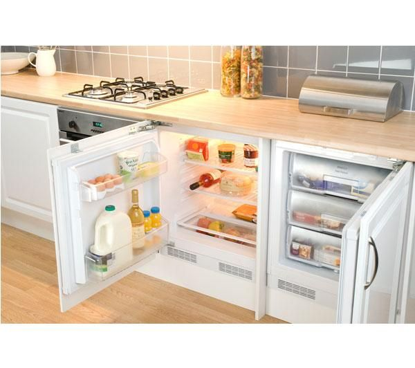 beko under counter larder fridge & freezer