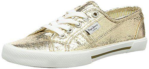 Pepe Jeans London ABERLADY METAL, Damen Sneakers, Gold (099GOLD), 37 EU - http://uhr.haus/pepe-jeans/37-eu-pepe-jeans-damen-aberlady-metal-sneakers-2