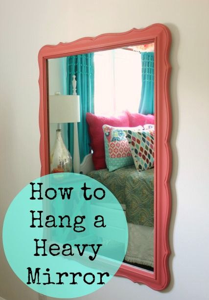 Need to hang a heavy mirror soon. I'll make sure using anchors is enough to sustain the weight.