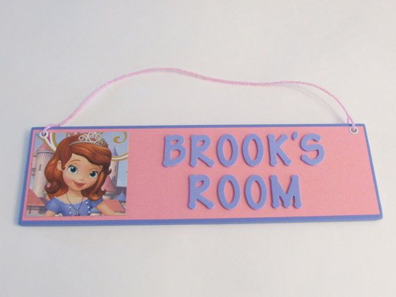 Disney Princess Sofia the First Personalized Room Decor Sign - Sofia the First on Etsy, $15.00
