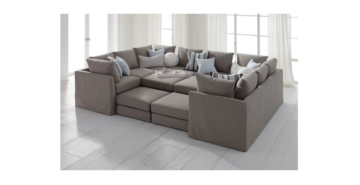 Dream Couch Dr Pitt Slipcovered Sectional Mitchell