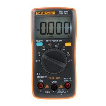 ราคาถูก  Digital Multimeter 6000 Counts Backlight AC/DC Ammeter VoltmeterOhm Meter - intl  ราคาเพียง  500 บาท  เท่านั้น คุณสมบัติ มีดังนี้ Resistance: 600 (+ 0.5%+3), 6K/60K/600K/6M (+ 0.5%+2), 60M (+1.5%+3) Measurement methods: double integral A/D converter Share ratio: 1% to 99% (+ 1%) Ultra range display: OL Working environment: 0~40 C, relative humidity < 80% Power supply voltage: 3V (2 x AAA 1.5V) (Batteries notincluded) Size: approx. 130*65*30mm