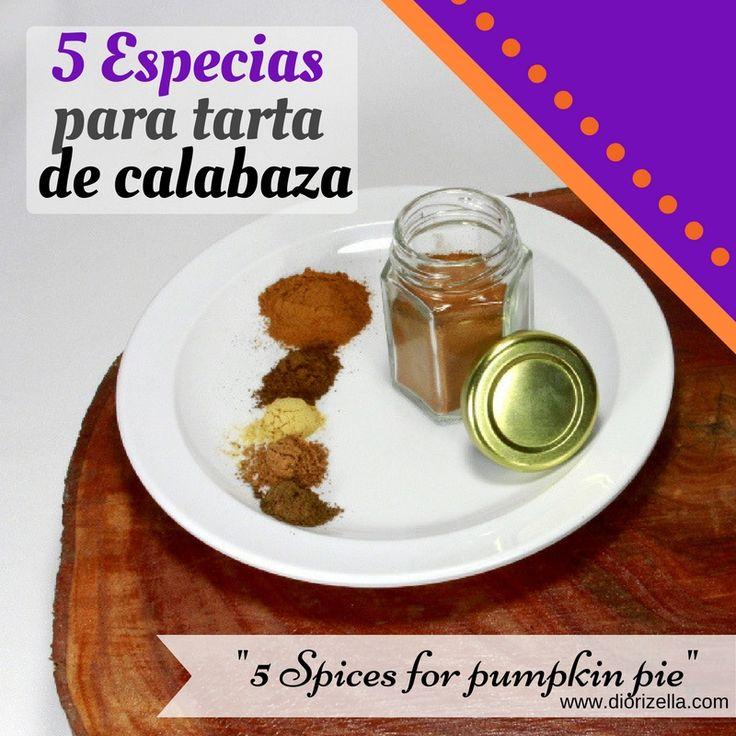 5 especias para tarta de calabaza #otono | Cocina