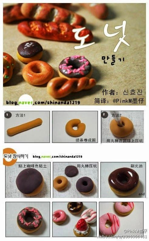 El hada de los cuentos: 3 tutoriales fáciles para hacer comida en miniatura con Fimo, porcelana fría y fondant.