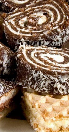 German Chocolate Cake Roll
