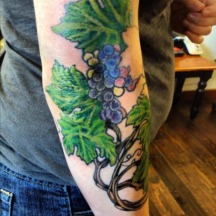 Grapevines by Luke Ray at Parkway Tattoo, Richland, WA