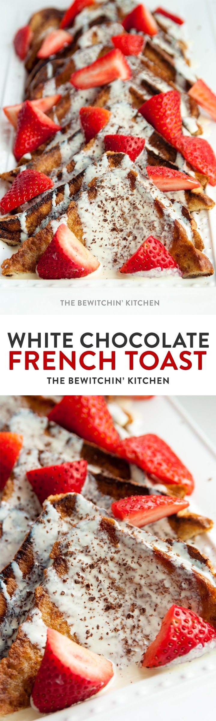 White Chocolate French Toast. This dessert inspired breakfast recipe is super simple and super yummy! 10/10! Make this for birthday breakfasts, brunch, or to celebrate another Netflix series finished.