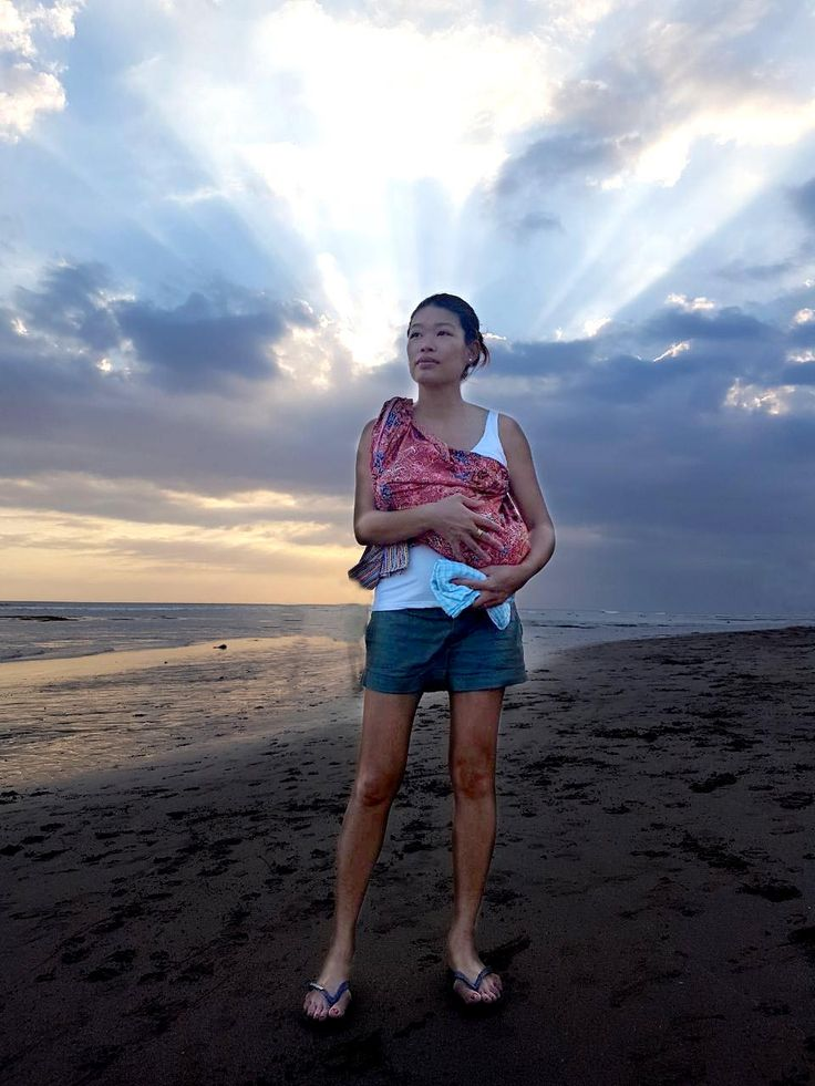 One month already!!! Feeling happy & blessed after this first battle for life!  I have a deep admiration for all the women of the world who give so much to transmit life! #bali #motherwood #beach