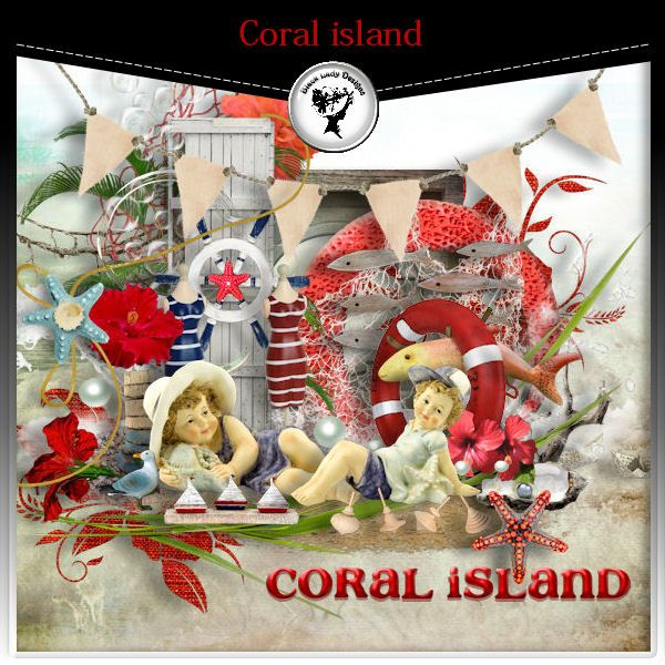 Coral island by Black Lady Designs