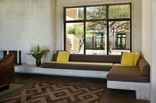 Built in seating...great for dining or if depth extended fantastic for sleeping. Use a dept to accomodate a twin size mattress.