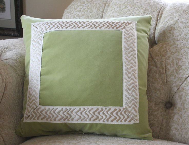 House and Home Defined: How To: Knife Edge Pillow with Trim Part I