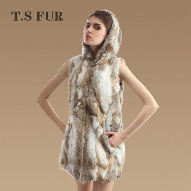 2015 New Genuine Rabbit Fur Vest Hooded Women's Pieces Rabbit Fur Waistcoats Winter Rabbit Fur Outwear Hot Sale US $52.99-59.99 /piece click the link to buy http://goo.gl/YJxPC6