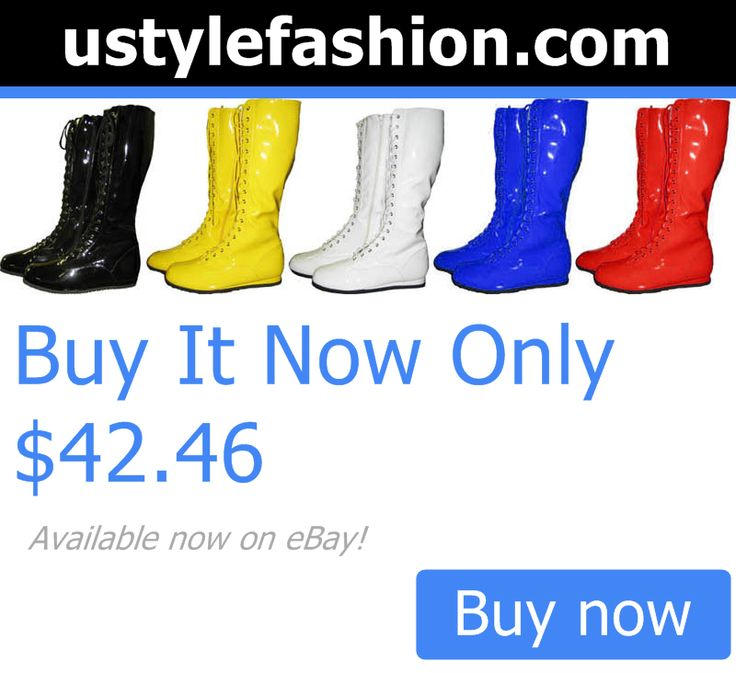 Men shoes: Pro Wrestling Costume Boots Yellow Black Red White Blue BUY IT NOW ONLY: $42.46 #ustylefashionMenshoes OR #ustylefashion