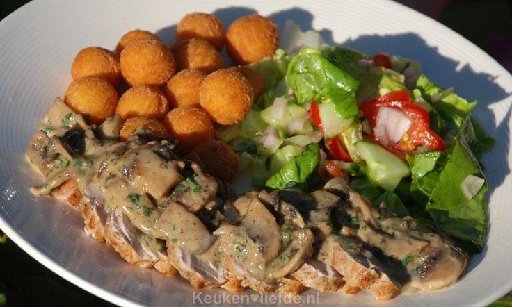 Varkenshaas met champignonroomsaus - Keuken♥Liefde