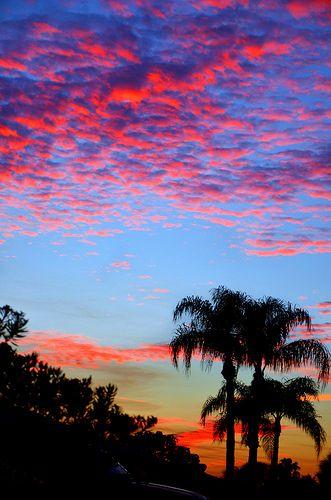 Fiery Sunset - Cocoa Beach, Florida
