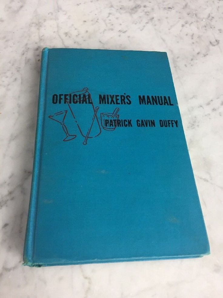 1940 Official MIXERS MANUAL Cocktail Recipes for Bartenders Patrick Gavin Duffy