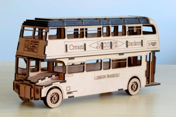 Double Decker Bus – Laser Cut Plans