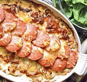 Potatiskaka med falukorv | Recept från Köket.se