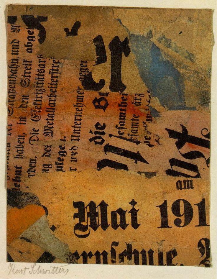 """Kurt Schwitters. """"Mai 191"""" 1919."""