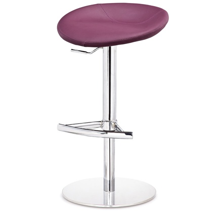 The Anzio Modern Gas Lift Bar Stool is stylish and contemporary, and a great way to modernise any kitchen. The trendy round seat is upholstered in high quality faux leather in a gorgeous rich Mulberry Purple colour. This looks fabulous as an accent colour in a modern white, black or grey kitchen! The pedestal is brushed metal to go with stainless steel appliances, and the heavy round flat base provides stability. The height is adjustable via the gas lift system. £139.00