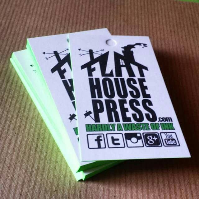 Creative Businessideas: Flat House Press' 100% Recycled Hang Tags Are In. #brand