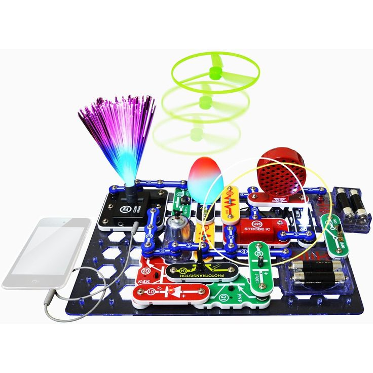 Snap Circuits Light Electronic Circuit Education Toy - Build Over 175 Projects with full color instruction manual - Has connection for iPod or MP3 players - 2012 Best Toys for Kids award by the Americ