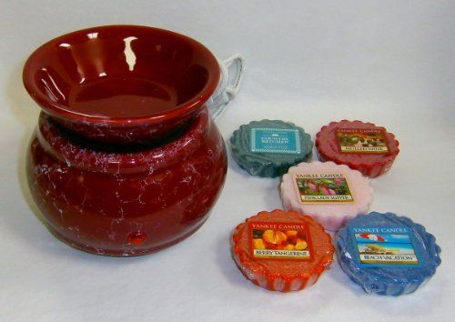Gift Set: Heating Plate Electric Wax Potpourri Burner Burgundy Marble Design, Plus 5 Yankee Candle Wax Potpourri Tarts Beach Vacation, Berry Tangerine, Pink Lady Slipper, Bamboo Musk, Mulled Wine # 24284 by Levin Gifts. $25.00. For use with wax potpourri from Bridgewater Candle, Scentchips, Ganz, Old Virginia Candle, Yankee Candle, Colonial Candle and more.. Includes an on-off switch, indicator light and 20 watt heating plate.. Gift Set: Heating Plate Electric Burner Burg...