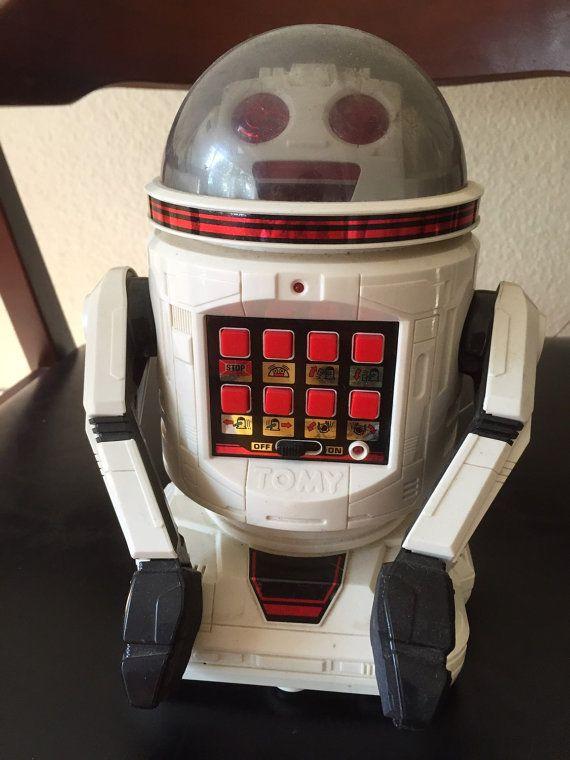 Vintage Tomy Verbot Robot jouet 1984 par FreshOutoftheCLoset