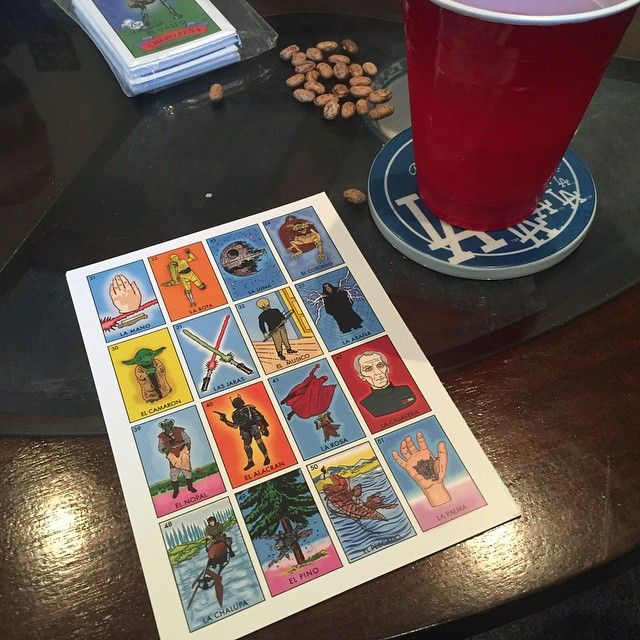 The #Force is strong with this Loteria card #starwars #loteria #geekmode #margarita #sundayfunday #starwarsloteria