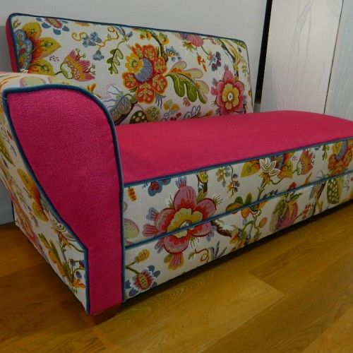 Miss Pink & Floral Chaise by Suite for the Soul