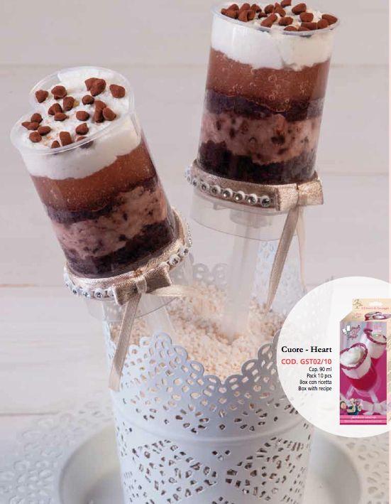 Tagliapasta e stampi vari : Push up pops cuore Italian Cake Art conf. 10pz