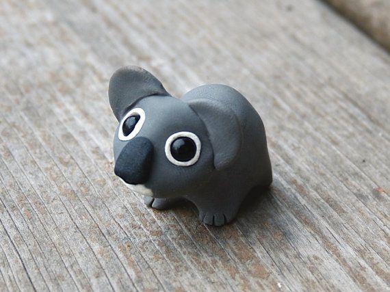Tiny koala - Handmade miniature polymer clay animal figure