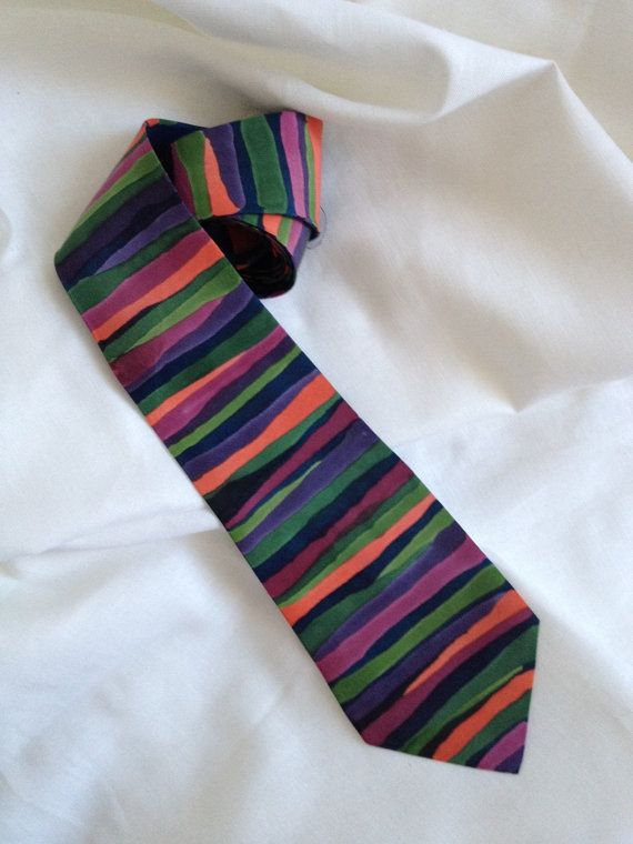 Hand painted silk tie Marble in red  purple  dark by OrinaDesign
