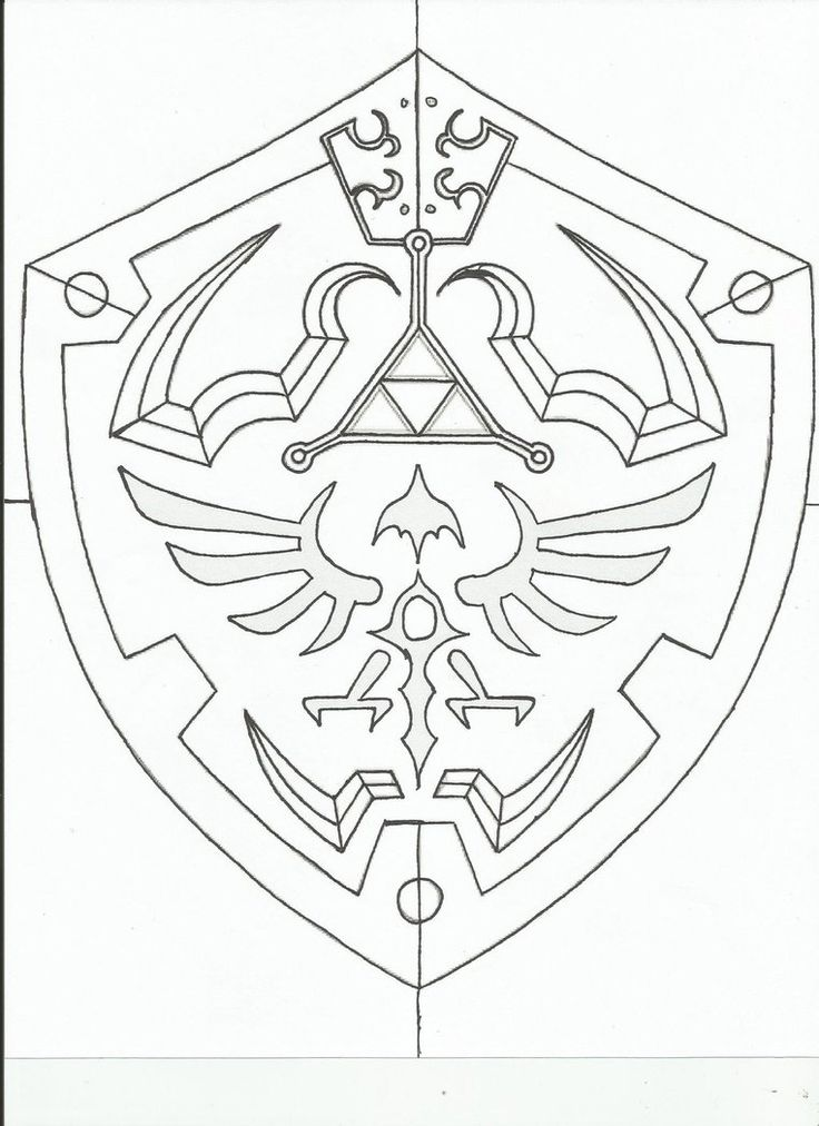 Hylian Shield template. by revandarque