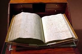Captain Cook's journal - in the Treasures Gallery at the National Library