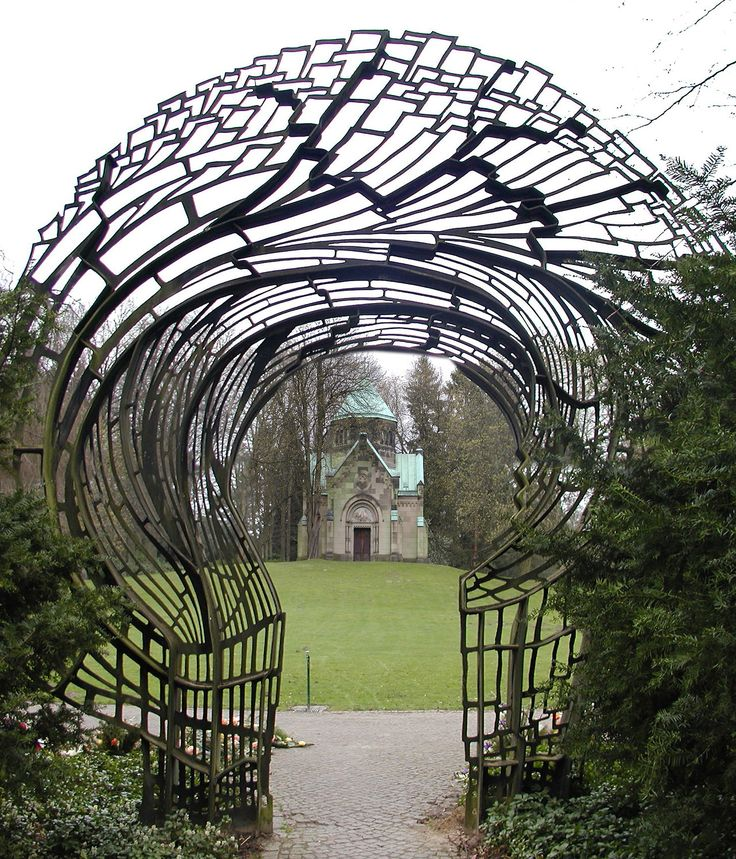 skinwalkerss A Gate in Friedhof Ohlsdorf Cemetery,  The cemetery Ohlsdorf (to 1991Main Ohlsdorf Cemetery) in the Hamburg district Ohls...