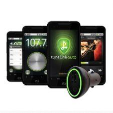 New Potato Technologies TuneLink Auto Bluetooth in Car Stereo Wireless Adapter for Android (Black)  1001-01002D
