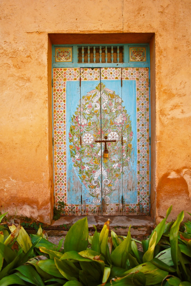 Ancient Moroccan Door Photo Print Floral, Photo By Hearttoheartart