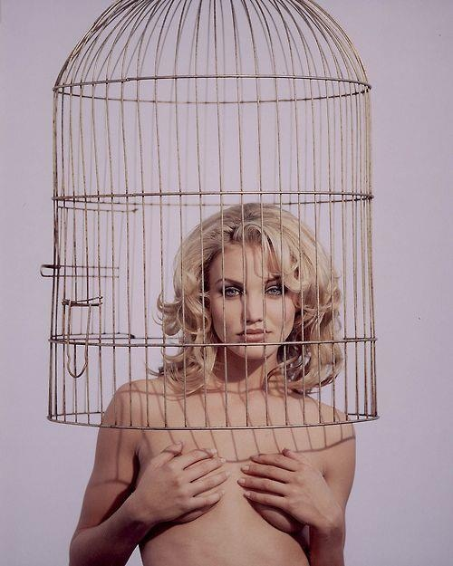 Cameron Diaz nude as Marilyn in a cage - Prime example of Beta Sex Kitten programming