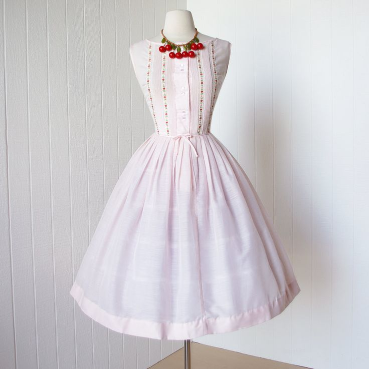 1950s teena paige fashions full skirt dress    Teena Paige was a popular line of dresses. They made dresses for day wear, but were best known for their
