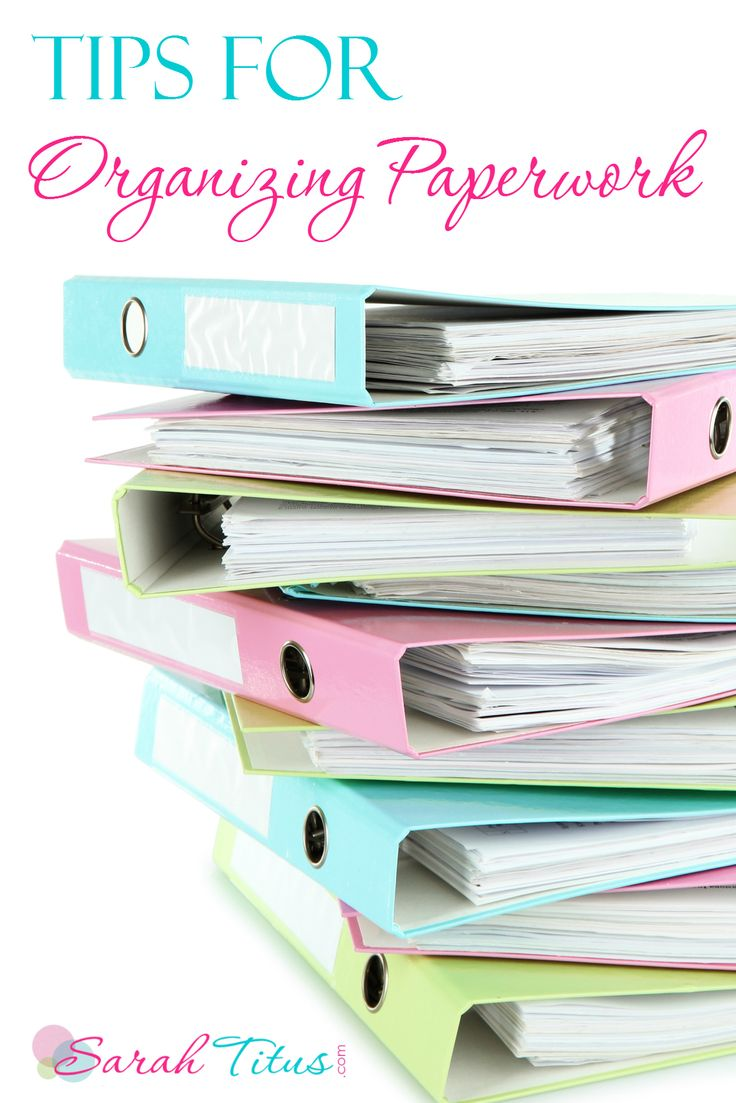 Tips for Organizing Paperwork! Get these Organization Tips for Home and School work!