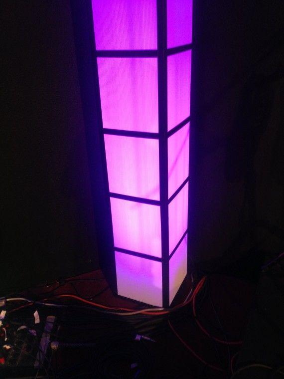 cheap diy lighting. They Scored The Coroplast And Made 1\u2032x1\u2032 Square Tube Towers. Capped · Church Stage DesignLighting IdeasStage LightingCheap LightingDiy Cheap Diy Lighting .